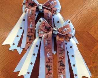 Hair Bows 4 Horse Shows/Hair Accessory Gift for Horse-Crazy Girl