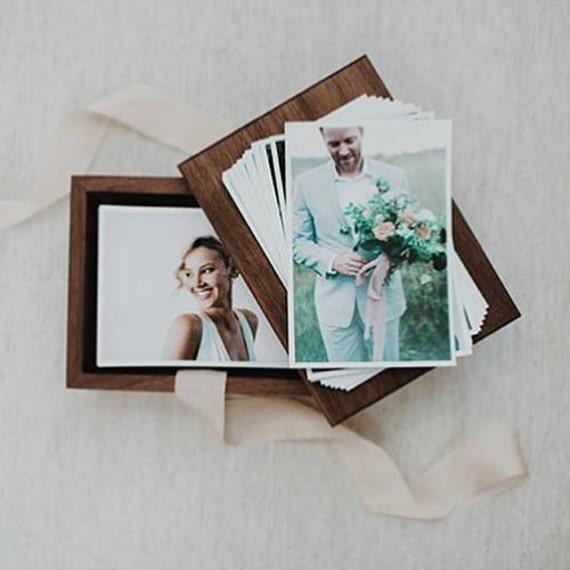 Photo Albums 8x10: Walnut Wood Photo Box For 4x6 5x7 8x10 Prints By