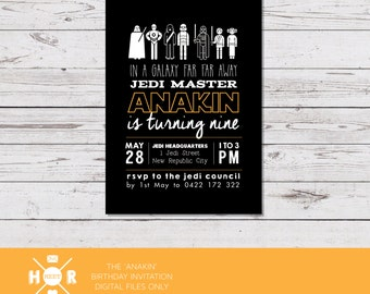 Printable - The 'Anakin' aka Darth Vader Birthday Invitation | Star Wars Invite