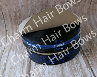7/8 blue lives matter ribbon
