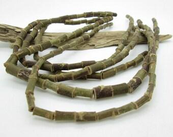 Natural Twig Wood Bead, Manzanita Tube Bead, 10x6-8mm (18)
