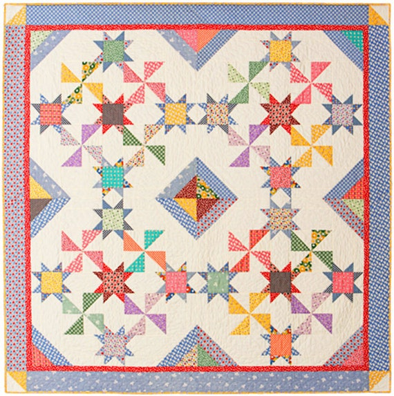 From the Sky With Grace Quilt Pattern BLOOM CREEK Charm Square