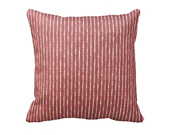 Charming 7 Sizes Available: Red Striped Pillow Cover Decorative Pillow Throw Pillow  Crimson Pillow Red Pillow