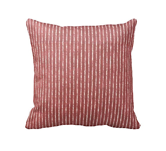 Common Decorative Pillow Sizes : 7 Sizes Available: Red Striped Pillow Cover Decorative Pillow