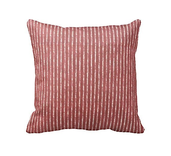 7 Sizes Available: Red Striped Pillow Cover Decorative Pillow