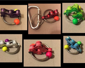 Bike Chain Keyring Therapy Autism Fidget Toy ADHD Sensory 7 COLORS to choose from!!