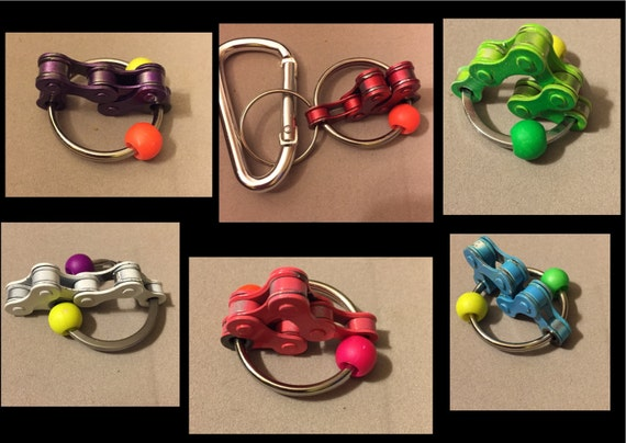 Autism Therapy Toys : Bike chain keyring therapy autism fidget toy adhd sensory