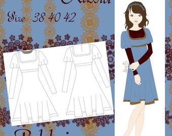 Bolshoi dress pattern size 38/40/42 PDF Spanish English