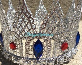 GOLD MINI Crown,Silver CrownPrince Crown,KING Crown, Newborn Prop,Lace Crown,Cake Topper!!!