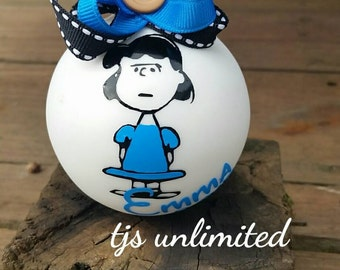 Lucy. Charlie brown. Ornament. Personalized