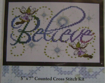 Believe Counted Cross Stitch