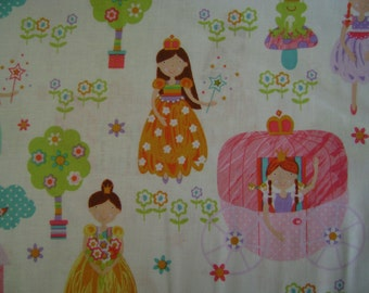 Novelty Princess Dream Cotton Fabric Sold by the Yard