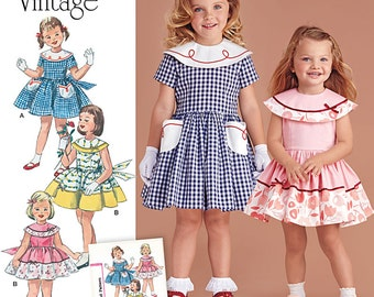Simplicity Pattern 8062 Toddlers' and Child's Dress