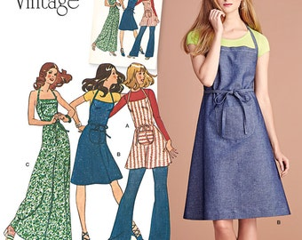 Simplicity Pattern 8073 Misses' Apron Dress in Three Lengths