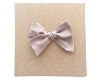 Taupe Classic Bow