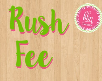 Rush Fee on Digital Emailed Items- Receive Emailed item within 24 Horus