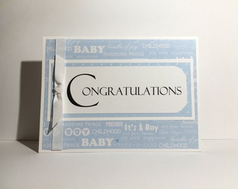 Grandparent Congratulations, promoted to grandparents, new baby, congrations, blue, baby boy