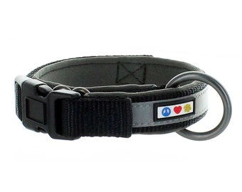 Pawtitas Soft Adjustable Reflective Dog Collar Padded Dog Collar