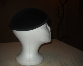 "1940's Black Felt Hat by ""Velda"" original"