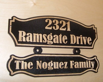 Personalized street house address number wood sign.Birch.Laser engraved gift