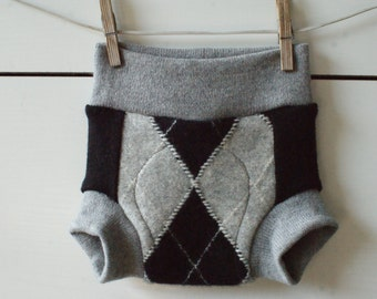 Small size upcycled wool diaper cover, soaker
