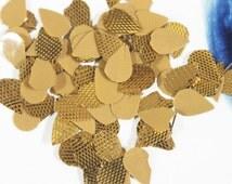 50 Gram, Tear Drop Shape Gota Patti in Gold Colour
