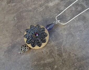 Wine cork necklace