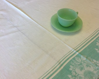 Jadeite tablecloth