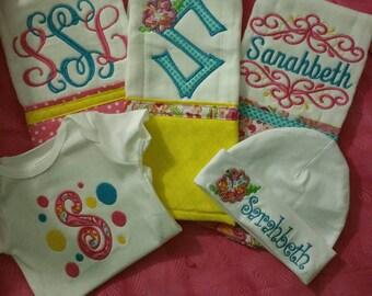 5 piece baby girl gift set