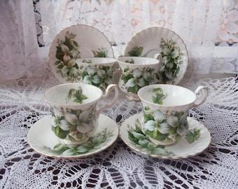 Vintage English Royal Albert bone china coffee set.