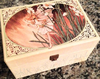 Cicely M. Barker Made in Sweden Flower Faries Jewery Box
