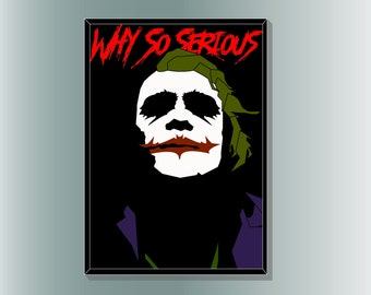 The Joker from The Dark Knight- Minimalist Movie Poster Print by Cult.Graphics