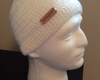 White  Kufi, Crochet Kufi, Men & Boy's Kufi, Mens Beanie, Womens Slouch Beanie, Crocheted Beanie, Knit Beanie, Fall Apparel