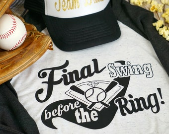 Final swing before the ring, Hen or Bachelorette party shirt
