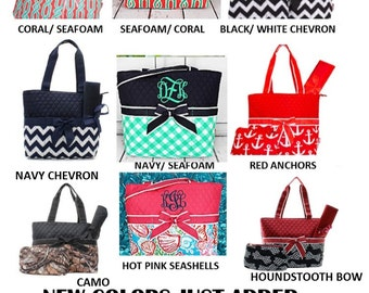 DIAPER BAGS --Monogrammed/ Baby Gift/ Baby Shower/ Boys/ Girls