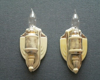 Antique Art Deco Bathroom sconces