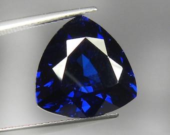 13.30 ct Fine Cutting Trillion Cornflower Blue Sapphire Corundum Hand Cut loose gem