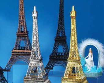 "15"" Eiffel Tower Replica, Metal Eiffel Tower Centerpiece, Paris Wedding, Eiffel Tower Centerpiece, Eiffel Tower Topper, Paris Wedding Decor"