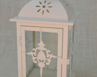 NO:L002 Wedding  Lantern Centerpiece Ivory, Off White Wedding Decor. Wedding Table Centerpieces. Centerpiece Ideas