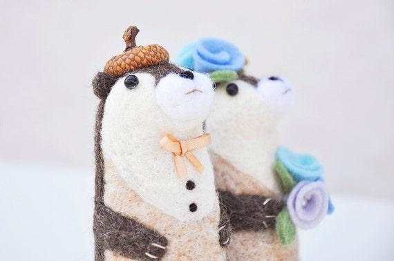 Otter Cake Topper Etsy