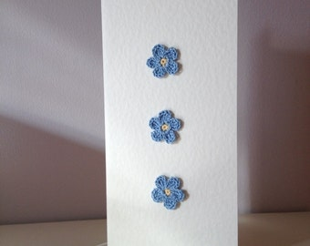 Tall Blue Flower Card