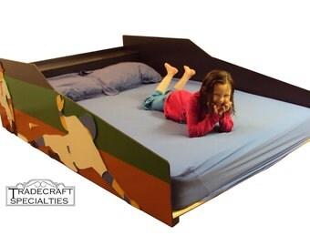 sportscar full kids bed frame handcrafted race by tradecraftspec. Black Bedroom Furniture Sets. Home Design Ideas