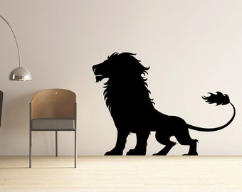 Lion Decal Vinyl Wall Decal, Home Decor