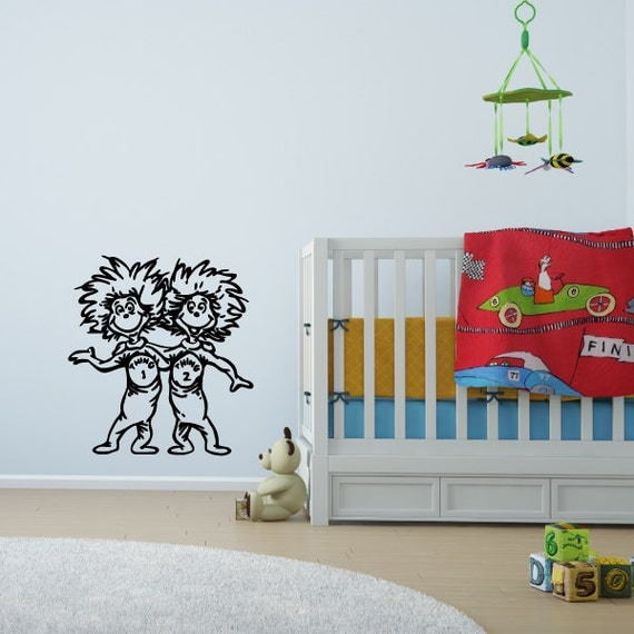 thing 1 and thing 2 wall decal the cat in the hat dr seuss wall decal best from cat in the hat wall decal ideas dr