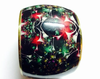 Women handmade handcrafted painted bangle black.