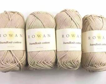 Rowan Handknit Cotton color Linen 205 beige, cotton knitting yarn
