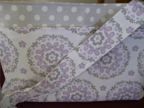 Lavender Paisley Purse Diaper Bag