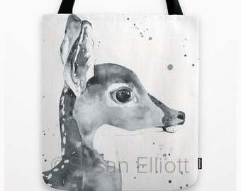 Fawn Profile Tote Bag