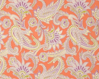 Turkish Paisley by Amy Butler 100% cotton.  Gypsy Caravan  Westminster fibers, quilters cotton, fabric by the yard, coral lavender paisleys