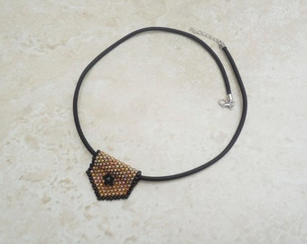 Peyote Tube and Tab Necklace